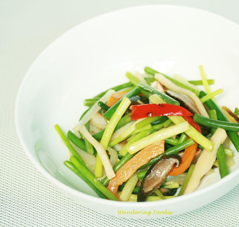 Garlic Scape Stir Fry 1
